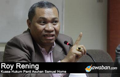 Roy Rening: Panti Asuhan Samuel Legal
