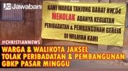 Pemprov DKI Jakarta Putuskan Gereja GBKP Dipindah Sementara