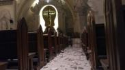 Dampak Gempa Lombok Sampai Ke Bali, Ornamen Gereja Di Denpasar Ini Runtuh