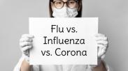 Ini Perbedaan Gejala Corona, Influenza dan Flu Biasa