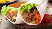 Menu Sarapan Sehat, Tortilla Daging Kebab
