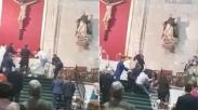 Duh, Pria Ini Serang Pendeta dan Jemaat Saat Gelar Pemberkatan Nikah di Gereja Spanyol