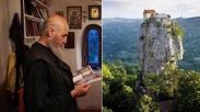 Kisah Pendeta Maximme Qavtaradze yang Hidup Sebatang Kara di Atas Tebing Setinggi 43 Meter