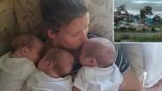 Rumah Roboh Diterjang Badai Irma, Pasangan Ini Berhasil Lindungi Tiga Bayi Kembarnya di Kamar Mandi