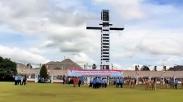 Tinggi Menjulang, Begini Wujud Tugu Salib Wio Silimo Jayawijaya