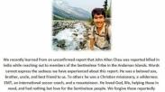 Sebelum Meninggal, Missionaris Amerika Ini Tinggalkan Pesan Agar Ampuni Pelaku Pembunuhnya