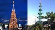 Sempat Diabaikan, Pohon Natal Tertinggi Se-Asia Tenggara Ini Kembali Terangi Kota Siantar