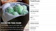 Terkuak! Trending 'Kue Klepon Gak Islami' Rupanya Muncul Gegara Hal Ini…