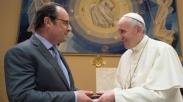 Presiden Perancis Berkunjung Ucapkan Terima Kasih Pada Paus