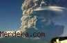 Abu Gunung Sangiang Menyebar, Masker Justru Langka