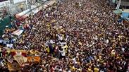 Dibayangi Teror, Jutaan Katolik Filipina Ikuti Festival Black Nazarene