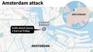 Terduga Teroris  Tusuk 2 Warga AS  di Amsterdam, Belanda. Lomba Karikatur Diduga Pemicunya