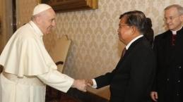 Jadi Juri Zayed Award, Jusuf Kalla Bertemu Paus Fransiskus Di Vatikan