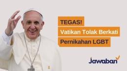 Tegas! Vatikan Tolak Berkati Pernikahan Sesama Jenis